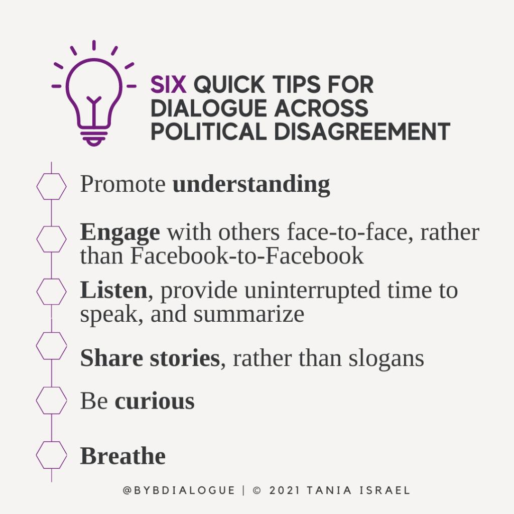 6 Tips for Dialogue Across Political Disagreement