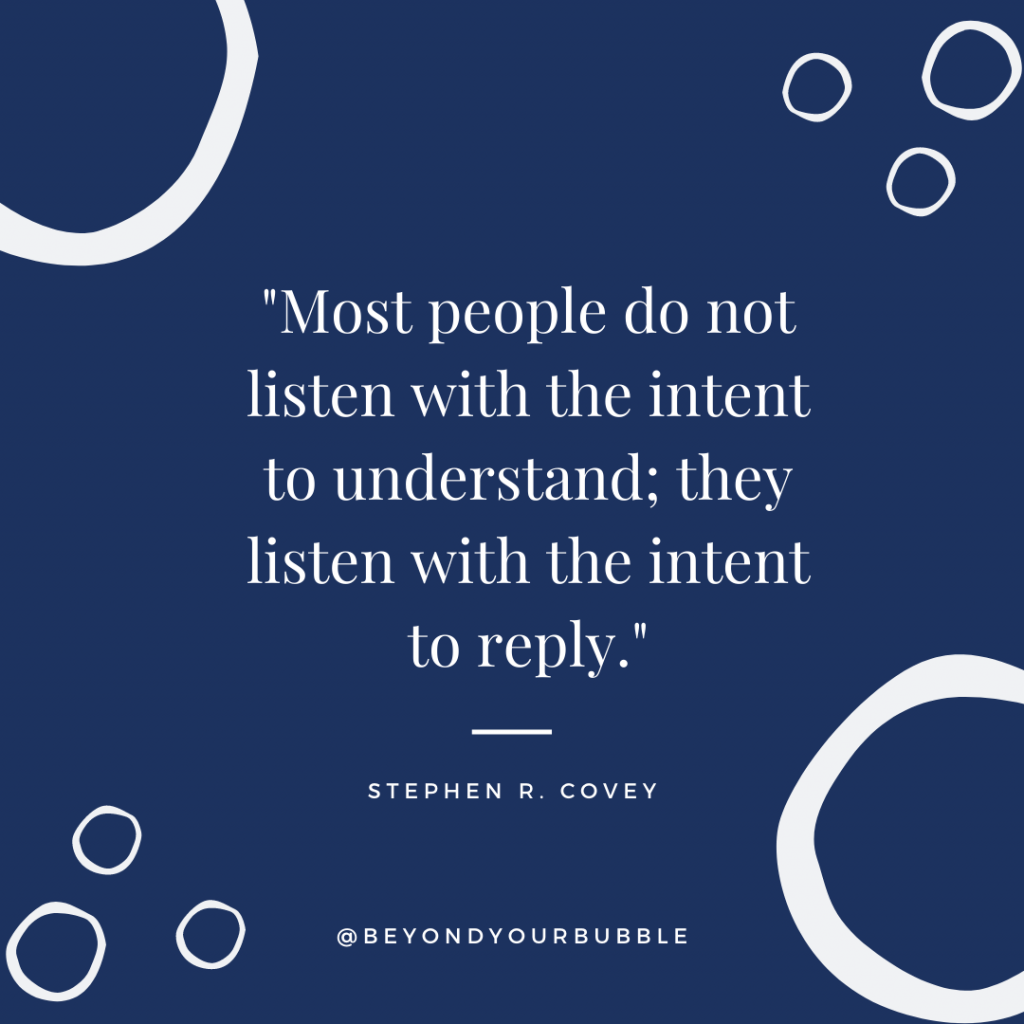 Stephen Covey Quote on listening